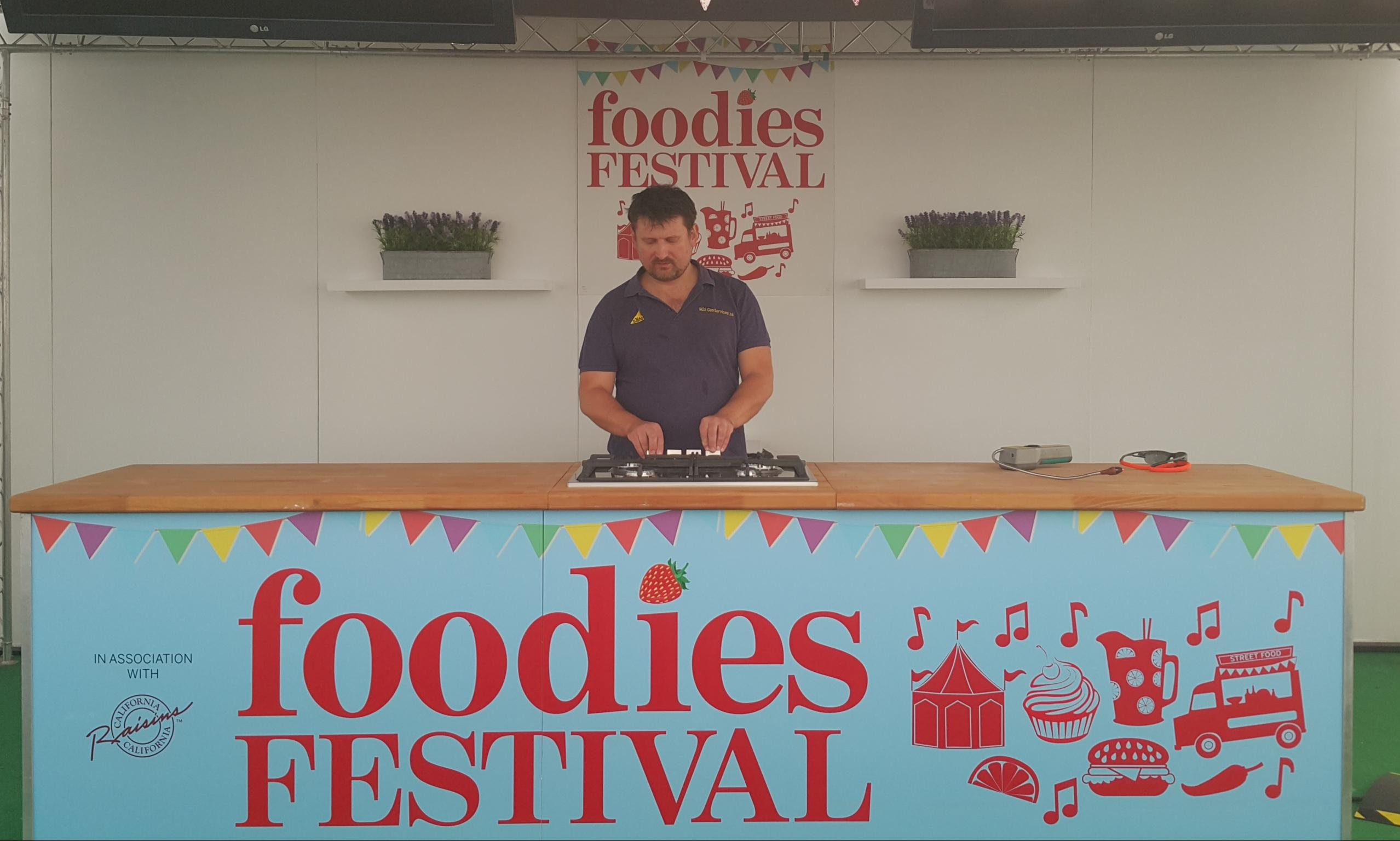 Making sure the gas safety of Foodies Festival